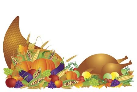 感謝祭の日の秋の収穫の宝庫