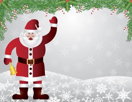 Santa Reindeer with Bow Holly Christmas Ornament Vector