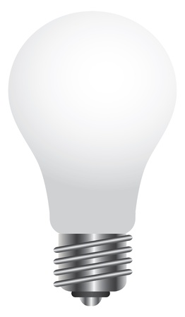 Lightbulb Blank Illustration Isolated on White Background Stock Vector - 16104364