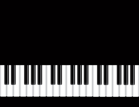 Piano Keyboards Background Illustration Vector