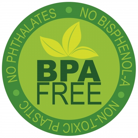 BPA Bisphenol-A and Phthalates Free Label for Non Toxic Plastic Illustration Isolated on White Background