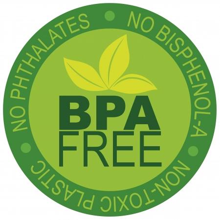non toxic: Etiqueta BPA Bisfenol-A y los ftalatos libre para No Ilustraci�n de pl�stico t�xico aislado en el fondo blanco