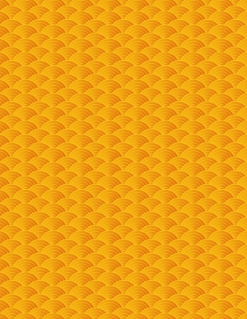Chinese Japanese Asian Gold Fish Scale Pattern Background Illustration Vector