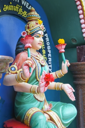 Maha Luxmi Hindu Goddess of Wealth and Prosperity Statue photo