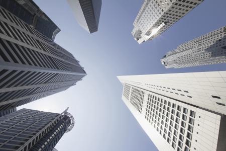 Towers Edificio de oficinas en Singapur Financiero Central Business District Foto de archivo