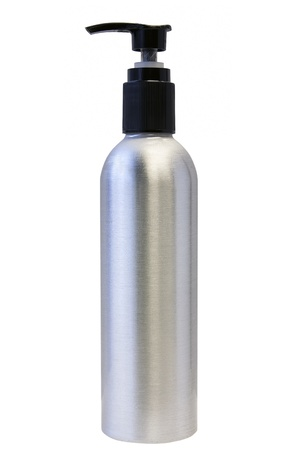Aluminum Bottle with Pump for Lotion or Liquid Soap Isolated on White Background Stock Photo - 17155871