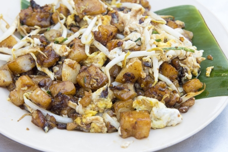 Penang Malaysia Fried Rice Carrot Cake with Bean Sprouts Char Koay Kak Local Dish Closeup Stock Photo - 18721175