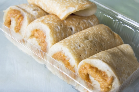 chien: Nyonya Ban Chien Kueh Peanut Pancakes Snacks Closeup