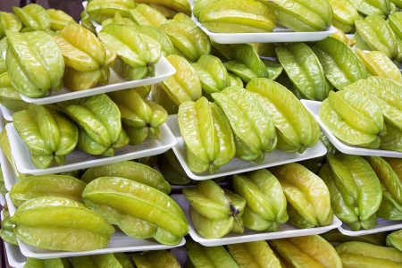 packaged: Starfruits Carambola Fruits Packaged for Sale at Southeast Asian Market