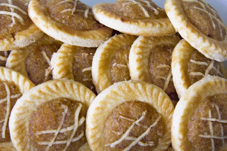 Pineapple Tart Pastry Stacked Up Closeup Zdjęcie Seryjne