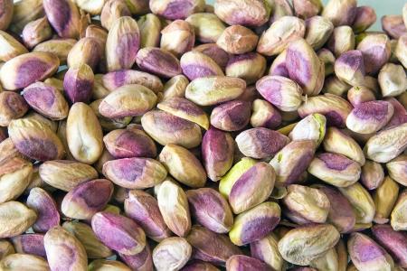 Shelled Pistachio Nuts Closeup Background