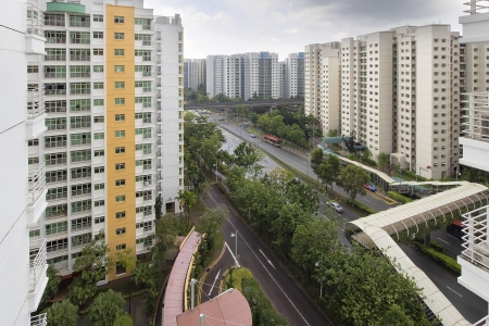 hdb: Singapore Government Housing Development in Punggol District