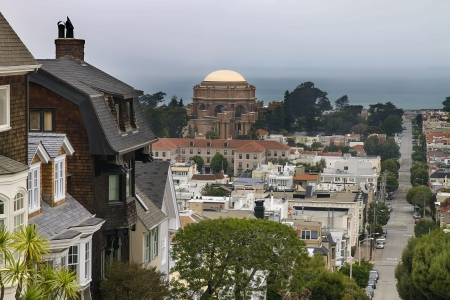 Presidio Residential Neighborhood with Palace of Fine Arts in San Francisco California photo