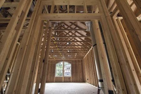 venting: Bonus Room Wood Studs Framing in Upstairs of New Home Construction