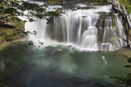 Lower Lewis River Falls in Gifford Pinchot National Forest Washington State