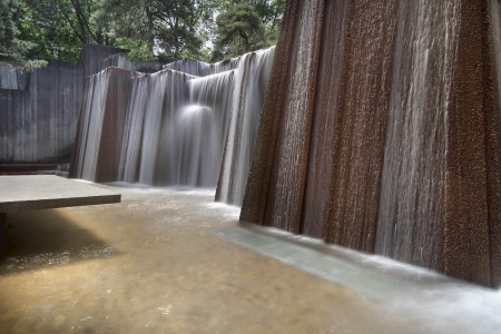 hardscape: Portland Oregon Urban Public Parks Water Fountain Long Exposure