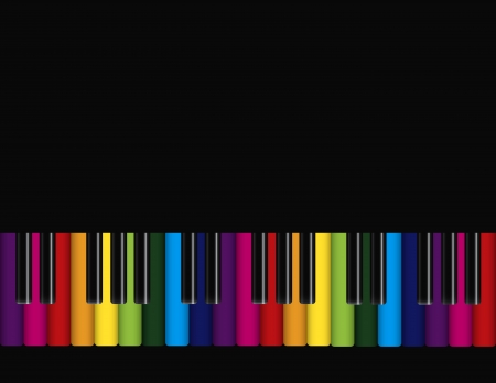 rainbow abstract: Piano with Rainbow Colors Keyboards Background Illustration Illustration