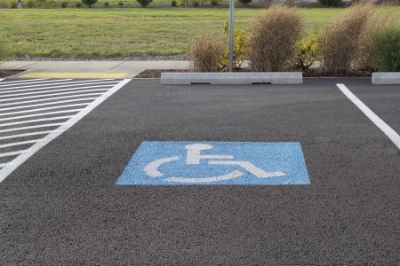 Handicapped Parking Space at Business Location