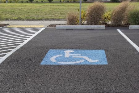 Parkeerplaats voor gehandicapten Ruimte aan Vestigingsplaats
