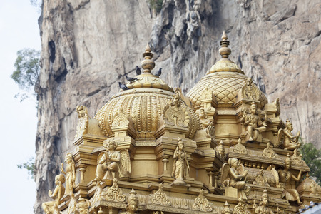 Sri Subramaniar Hindu Temple Dome Detail at Batu Caves in Malaysia photo