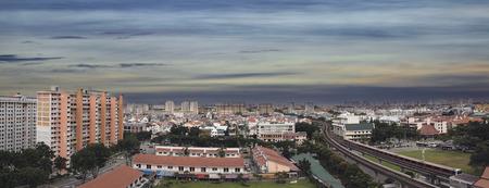hdb: Singapore Eunos Housing Estate by the MRT Train Station Panorama