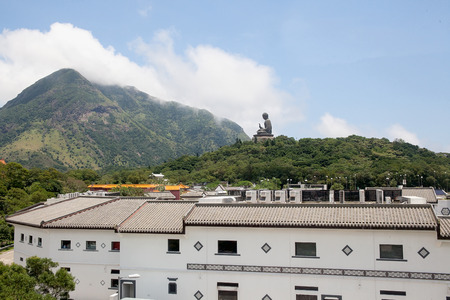 hk: Tian Tan World Largest Sitting Bronze Buddha at Ngong Ping Village in Hong Kong