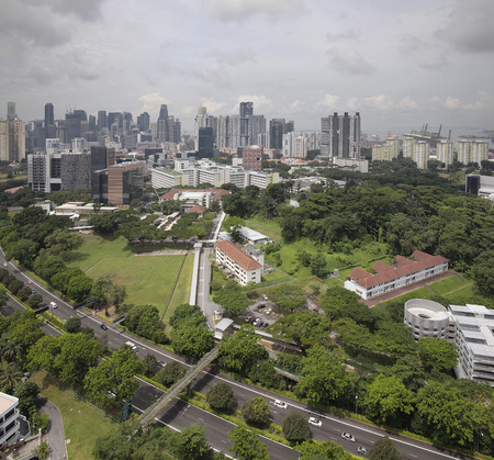 Singapore Central Business District CBD City Skyline Aerial View photo