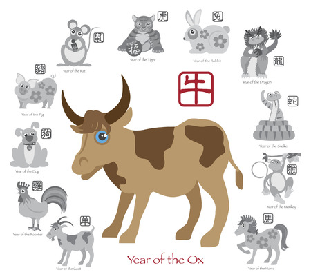Chinese New Year of the Ox  Vector