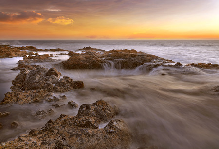 thor's: Thors Well at Cooks Chasm by Cape Perpetua on the Oregon Coast during Sunset