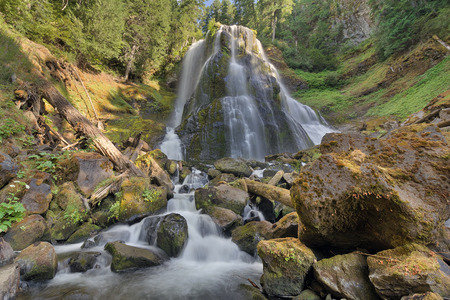 national forest: Falls Creek Falls Middle Tier at Gifford Pinchot National Forest in Washington State