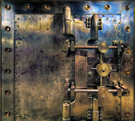 Old Bank Vault in Basement of Historic Building