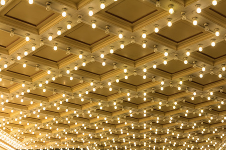 ceiling: Marquee Lights on Broadway Theater Exterior Ceiling