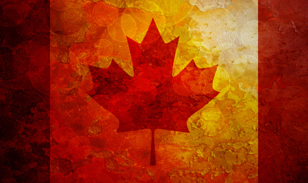 festive occasions: Canada Flag Grunge Texture Background Illustration