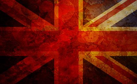 bandera de gran bretaña: Union Jack Gran bandera de Gran Bretaña con textura de Grunge Ilustración Foto de archivo