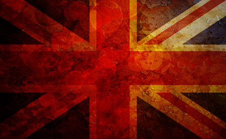 grunge union jack: Union Jack Great Britain Flag with Grunge Texture Background Illustration