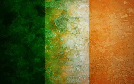 ireland flag: Ireland Country Irish Flag on Grunge Texture Background Illustration Stock Photo