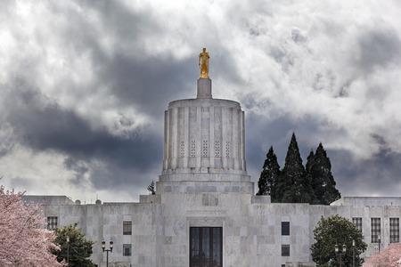 Oregon State Capitol Building in Salem Oregon