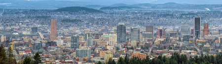 commercial building: Portland Oregon Cityscape with view to the east panorama