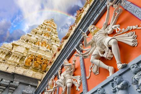 nataraja: Exterior view of a Hindu Temple