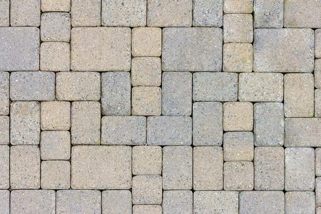 Garden Patio in Backyard Stone Brick Pavers Hardscape Layout Design Top View