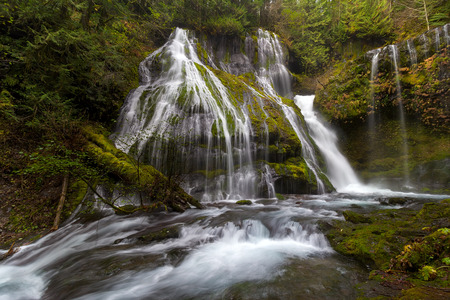 national forest: Panther Creek Falls in Gifford Pinchot National Forest Washington State Stock Photo
