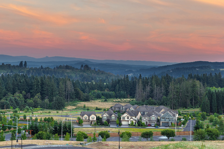 New Housing Suburban Development in the City of Happy Valley Oregon