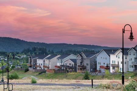 Luxury homes subdivision development in city of Happy Valley Oregon Stock Photo