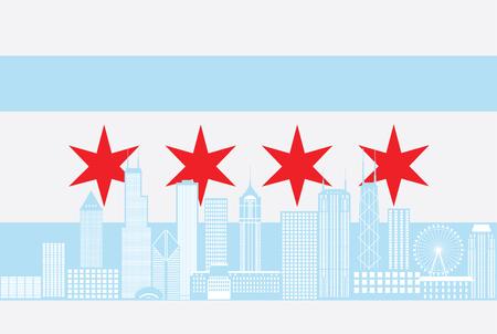 Ciudad, ciudad, horizonte, panorama, color, contorno, silueta, ciudad, bandera, aislado, blanco, Plano de fondo, Ilustración Foto de archivo - 79102574