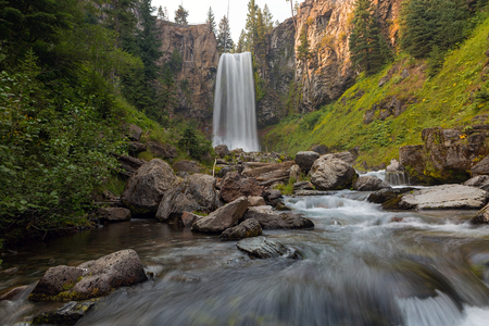 Tumalo Falls in Bend Central Oregon during summer