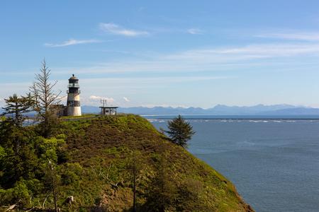 Cape Disappointment Lighthouse at Ilwaco Washington State on Long Beach Peninsula