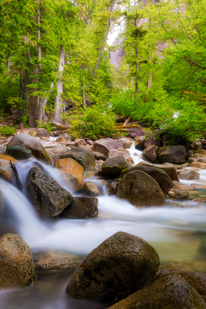 The creek below Shannon Falls in Provincial Park in Squamish Canada Stock Photo
