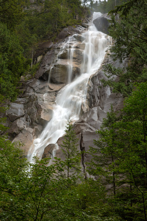 Shannon Falls at Provincial Park in Squamish British Columbia Canada
