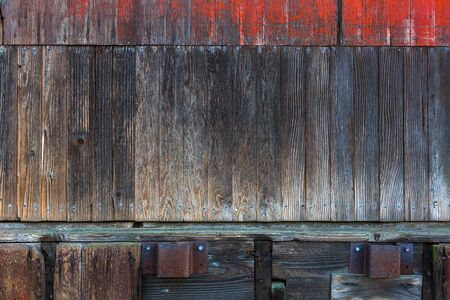Old wood storage barn warehouse exterior wood siding grunge textue background Stock Photo