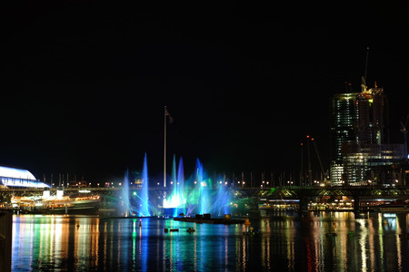 Darling Harbour during Sydney vivid festival